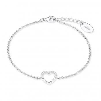 neuesten Stil heiß-verkaufendes spätestes heiß-verkauf freiheit s.Oliver Schmuck Damen Armband Silber Herz Armkette 2022752