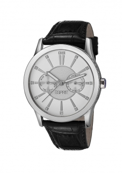 tolle Passform bester Service günstige Preise Esprit Damenuhr Uhr Single Infusion Black Schwarz Leder Multifunktion  ES106472002