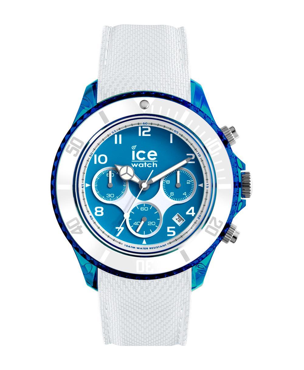 ice watch dune herrenuhr uhr chronograph wei blau 45mm. Black Bedroom Furniture Sets. Home Design Ideas