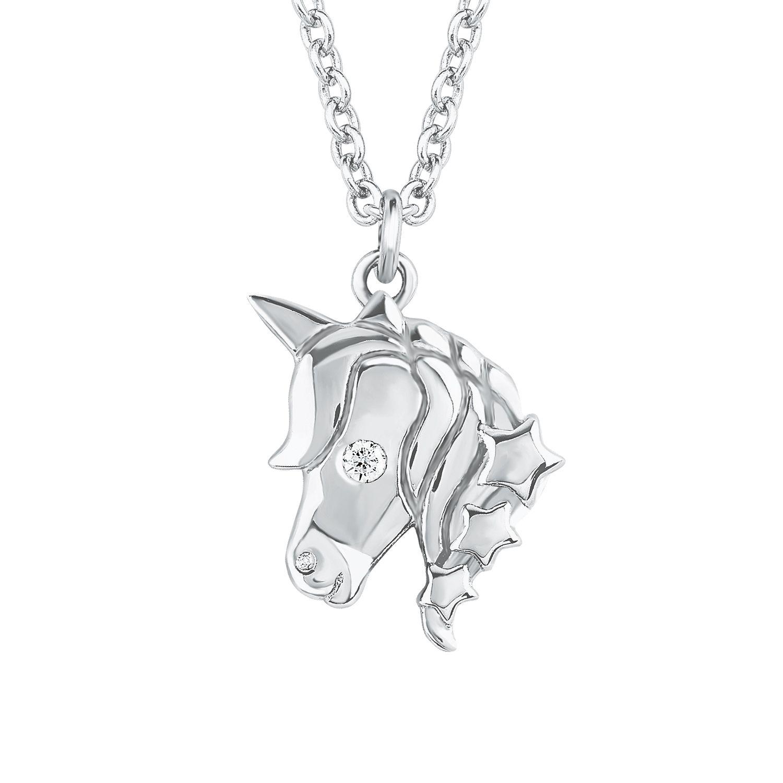 Soliver Schmuck Kinder Mädchen Silber Kette Halskette Einhorn 2018520