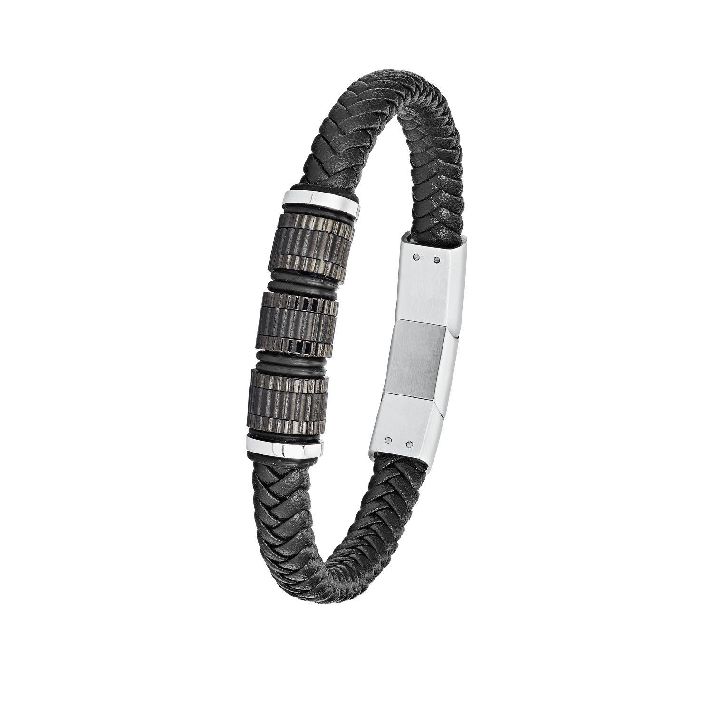 am besten online Laufschuhe Ausverkauf s.Oliver Schmuck Herren Armband Leder Schwarz Armschmuck 2024230