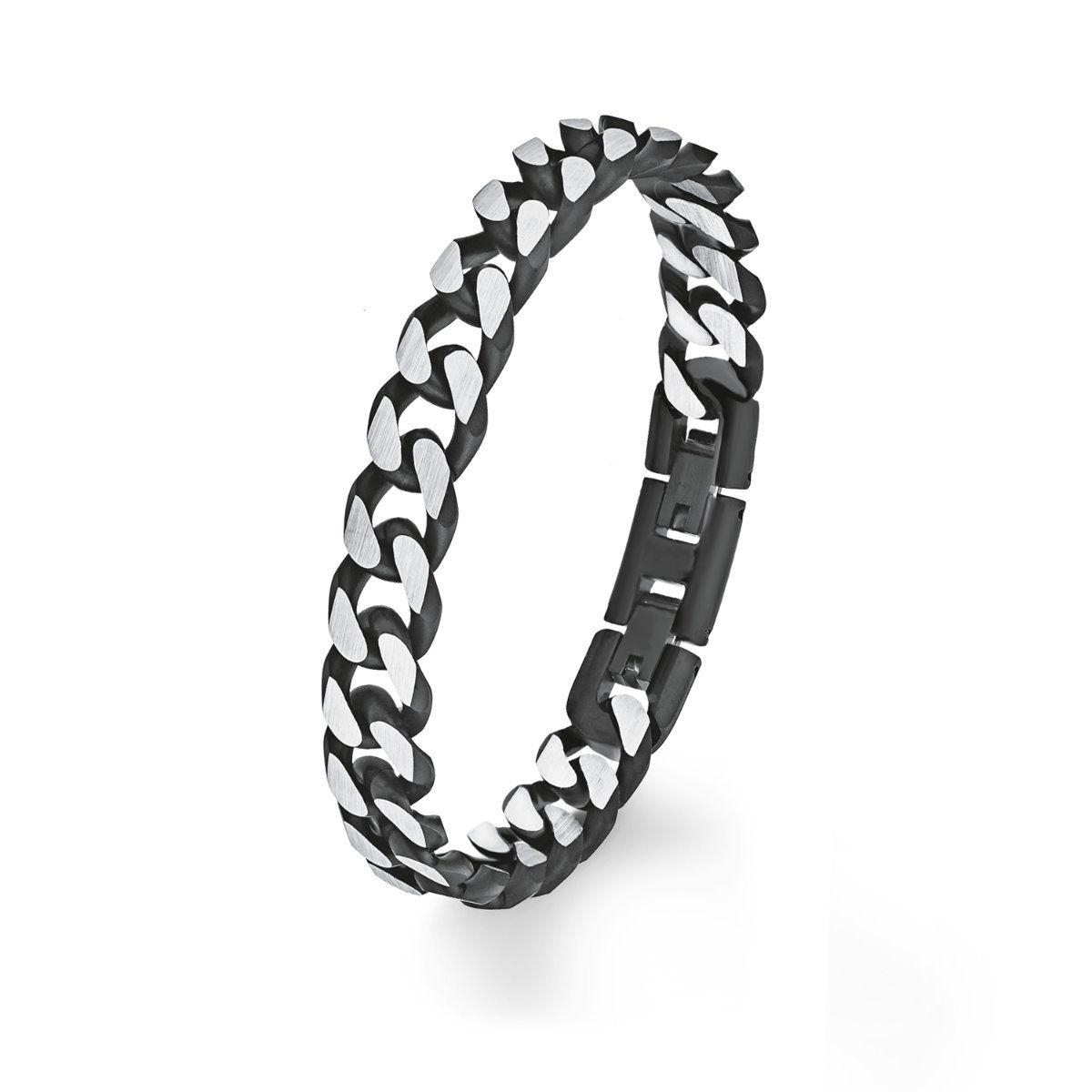 s oliver schmuck herren armband armkette edelstahl schwarz. Black Bedroom Furniture Sets. Home Design Ideas