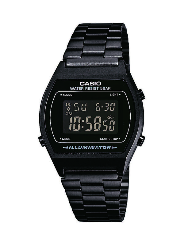 Armband Schwarz Retro Unisex 1bef Casio Digital B640wb Herrenuhr Uhr Edelstahl cAq54R3jL