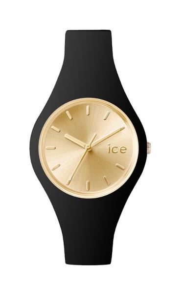 ice watch uhr damenuhr chic schwarz goldend small flach. Black Bedroom Furniture Sets. Home Design Ideas