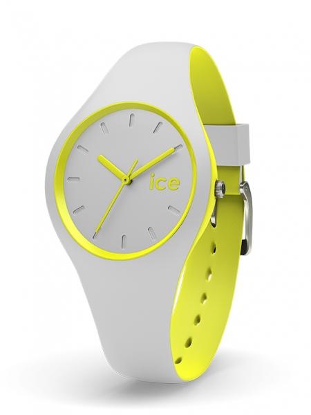 ice watch uhr armbanduhr duo grau neon gelb small 10 bar. Black Bedroom Furniture Sets. Home Design Ideas